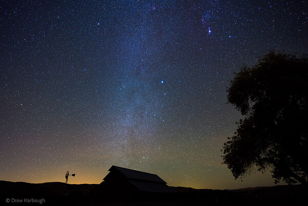 The Barn and the Winter Milky Way