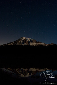 Mt Rainier Summer Night