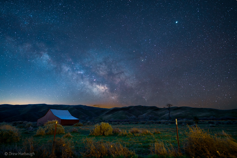 Milky Way Over the Barn