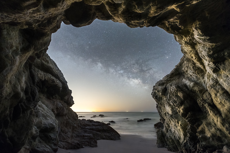 Malibu Leo Carrillo cave and Milky Way