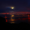 Super moon in San Francisco - What a sight!  We only had a couple of minutes to get this shot amidst a thick fog cover all evening!