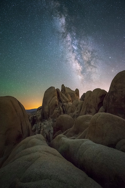 White Tank Campground with Milky Way, Joshua Tree National Park