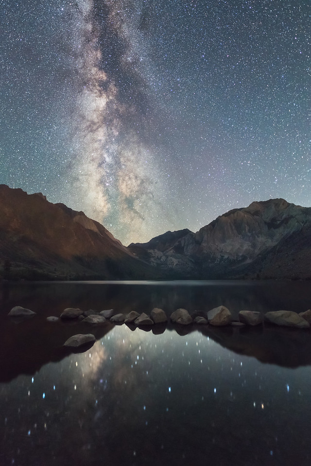Convict Lake Milky Way reflections