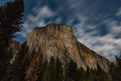 Night Climbers Light on El Capitan in Yosemite