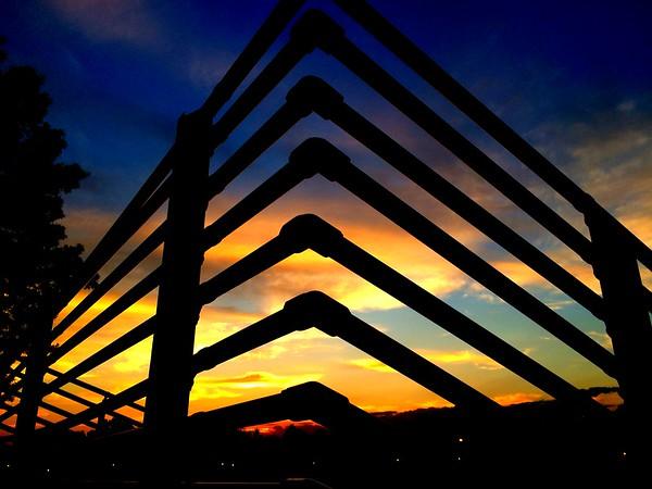 Sunset on the Bleachers