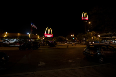 McDonal's in Lincoln Square at night
