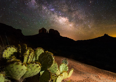 Milky Way Over Cathedral Rock, Sedona