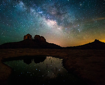Nighttime Sedona Reflections