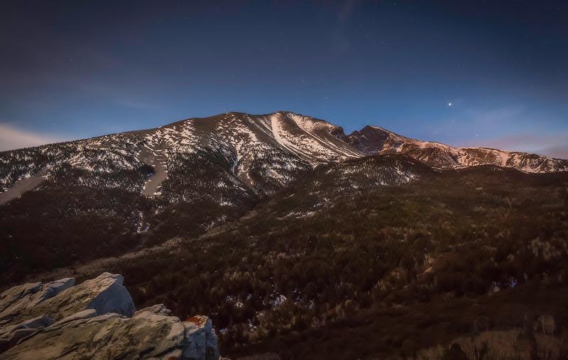 Wheeler Peak at Great Basin National Park