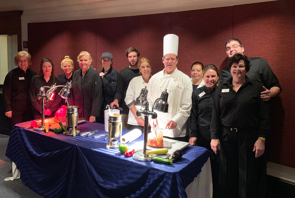 . Mike Lenzi of Lenzi�s Catering and his team