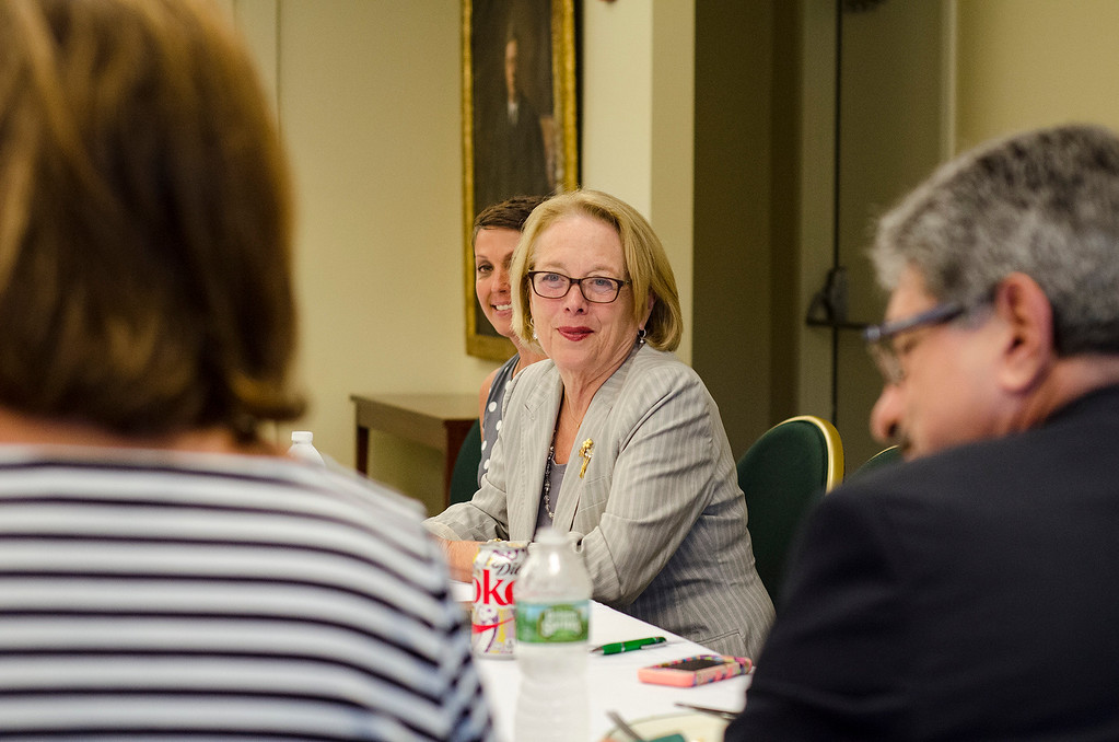 . Congresswoman Niki Tsongas during a roundtable discussion in honor of Womens Equality Day at Fitchburg State University on Friday afternoon, August 28, 2016. SENTINEL & ENTERPRISE / Ashley Green