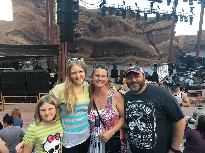 The Christiansen Family at a Red Rocks Concert