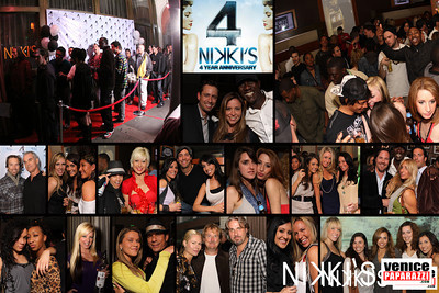 NIKKI'S. Sports Bar with a party. Come kick it at Nikki's! HappyHour from 4-7 p.m. Daily. ½ appetizers and drinks. $2 Taco Tuesdays. Hours: Mon-Fri. 4:00 p.m. – 1 a.m. * Parking: Metered/Valet * Cover: Never. Nikki's. 72 Market Street. Venice, CA 90291 | 310-450-3010.  |http://www.nikkivenice.com |http://www.myspace.com/nikkilocal | Join Nikki's Venice Beach on facebook.  All photos by Venice Paparazzi.  www.venicepaparazzi.com