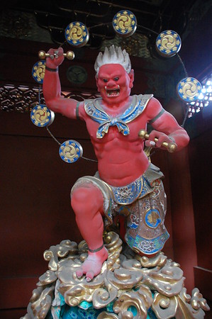 Raijin (god of thunder), Nitenmon Gate, Taiyuin-byo Shrine