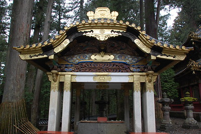 Omizuya (where visitors purify their hands and mouths before worship) at Toshogu shrine