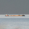 Dunlap Tug Rosario & empty gravel barge....distance 3 miles...