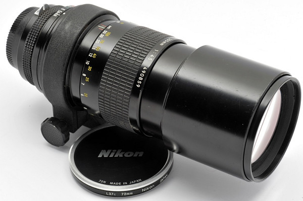 Nikon 300mm f4.5 Non-AI  (manual focus)  1975  s/n486704