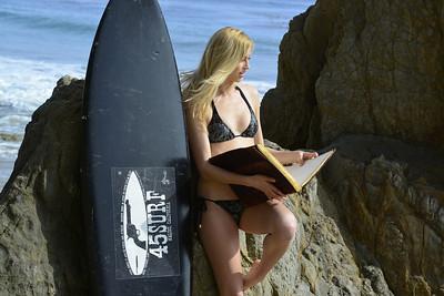 Beautiful Blonde Swimsuit Bikini Model shot with Nikon D800
