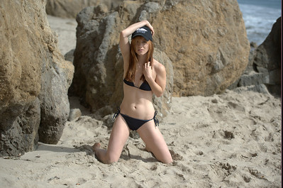 Nikon D800 Photos of Pretty Redhead Bikini Swimsuit Model Goddess