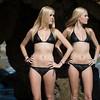 Nikon D800 Photoshoot of Twin Sister Bikini Swimsuit Model Goddesses