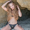 Nikon D800 Photos of Swimsuit Bikini Model Goddess in Malibu Sea Cave