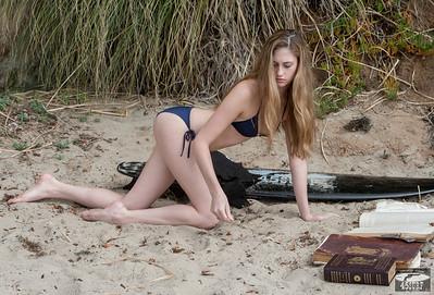 Nikon D800 Photos Beautiful Swimsuit Bikini Model Goddess with Long, Sandy-Blond Hair!