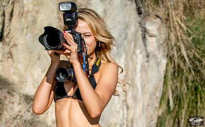 Nikon D800 Photos of Pretty Swimsuit Bikini Model @ Sunset!