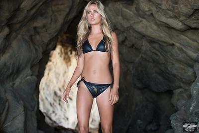 Nikon D800 Photos of Bikini Swimsuit Model Goddess in Sea Cave