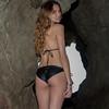 Nikon D800 Photos of Bikini Swimsuit Model in Malibu Sea Cave