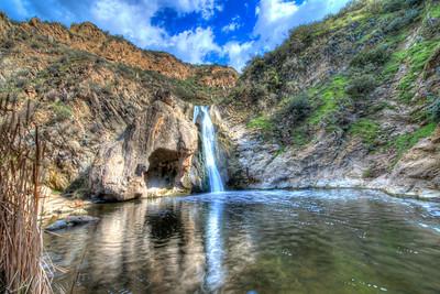 Waterfall! Nikon D800E HDR Socal (Malibu/Thousand Oaks) Landscape Photography with 14-24 mm f/2.8 Lens