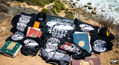 Nikon D800E Photos of 45surf Surfboard, Hats, Hoodies, T-shirts, and Shirts on a Malibu Bluff above La Piedra Beach!