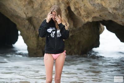 Nikon D800E Photos of Hot Pink Bikini Swimsuit Model Goddess!