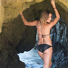 Nikon D800E Photos of Swimsuit Model Goddess in Sea Cave