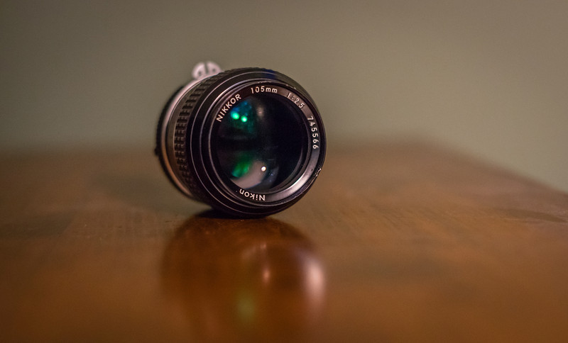 New old toy, or old new toy?<br /> <br /> Nikon Nikkor 105/2.5 from 1977.