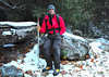 Image of new boots and me in snow / ice up the canyon 12-2-10.