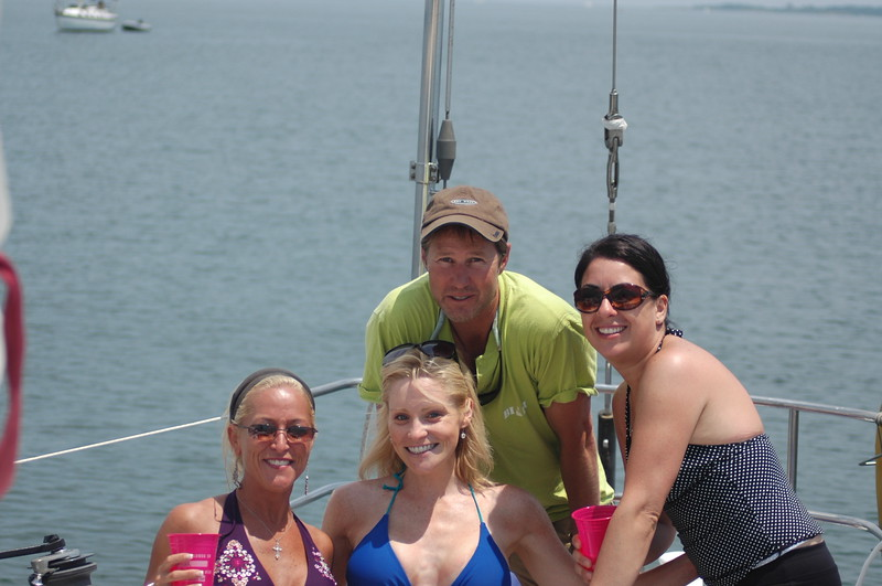 Out on the boat