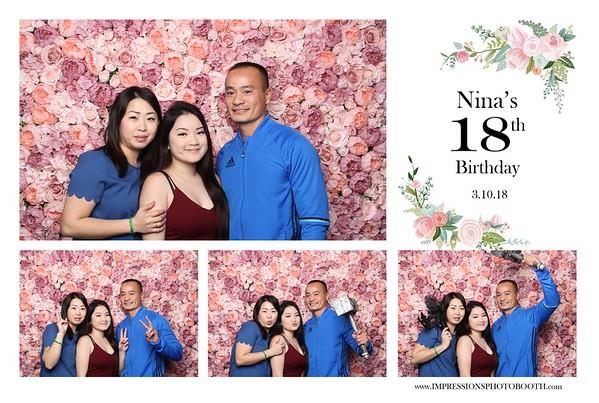 Nina's 18th Birthday 03.10.18