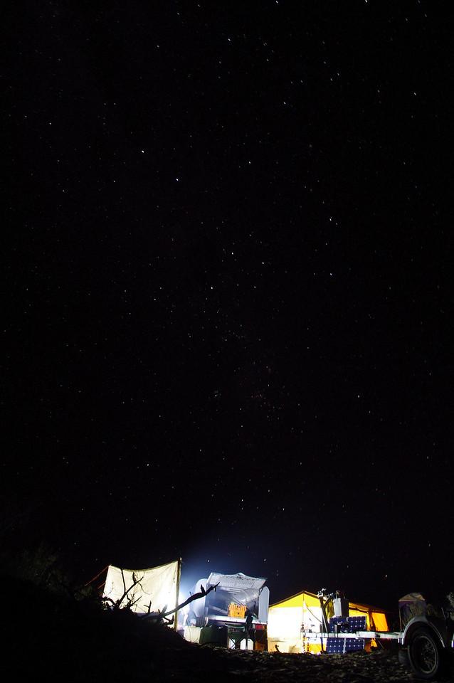 Stars over the camp, Ningaloo , WA