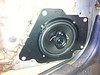 "Aftermarket speaker and  speaker adapter plate   from  <a href=""http://www.car-speaker-adapters.com/items.php?id=SAK004""> Car-Speaker-Adapters.com</a>   installed"