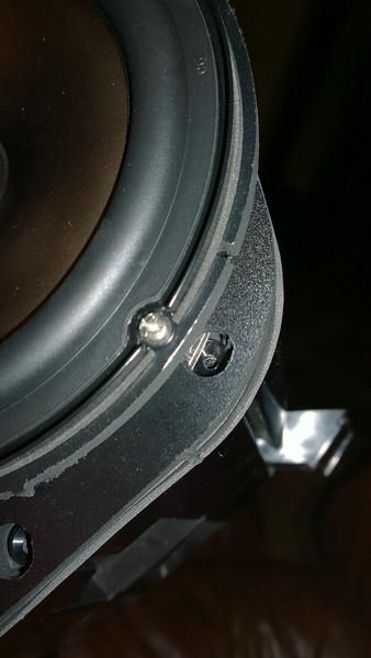"Aftermarket speaker mounted to speaker adapter   from  <a href=""http://www.car-speaker-adapters.com/items.php?id=SAK044""> Car-Speaker-Adapters.com</a>"