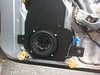 """aftermarket speaker and speaker adapter plate  from  <a href=""""http://www.car-speaker-adapters.com/items.php?id=SAK005""""> Car-Speaker-Adapters.com</a>   installed"""