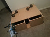 Speaker box glued, clamped, and weighted