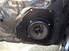 """Aftermarket speaker and speaker adapter   from  <a href=""""http://www.car-speaker-adapters.com/items.php?id=SAK038""""> Car-Speaker-Adapters.com</a>   installed on door"""