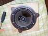 "Aftermarket speaker mounted to speaker adapter plate    from  <a href=""http://www.car-speaker-adapters.com/items.php?id=SAK050""> Car-Speaker-Adapters.com</a>"