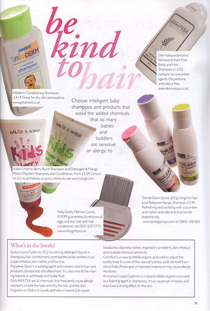 Nitty Gritty NitFree comb featured in       <br /> Be Kind To Hair<br /> (full page)