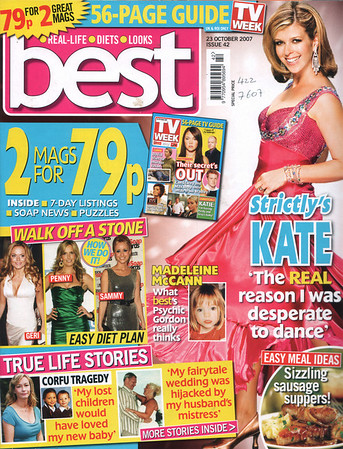 "BEST MAGAZINE 23RD OCTOBER 2007<br /> NITTY GRITTY NITFREE COMB GIVEAWAY<br /> FRONT COVER<br /> <br /> <a href=""http://www.bestmagazine.co.uk"">http://www.bestmagazine.co.uk</a><br /> <br /> <br /> approved for repro 12 May 08."