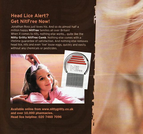 FLYING START MAGAZINE * DECEMBER 2007<br /> CLOSE UP<br /> NITTY GRITTY NITFREE COMB<br /> HEAD LICE BEWARE ARTICLE