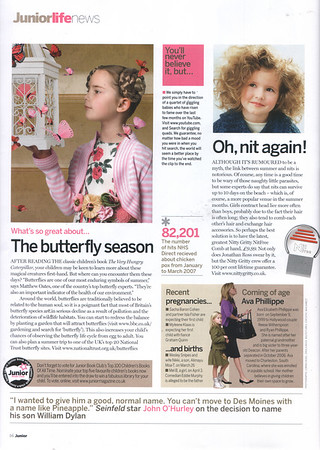 """Junior Magazine<br /> Junior Life page (Oh, nit again!)<br /> <br /> <a href=""""http://www.juniormagazine.co.uk"""">http://www.juniormagazine.co.uk</a>"""
