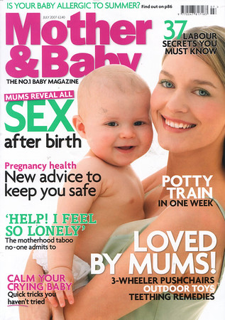 Mother and Baby Magazine<br /> Front cover<br /> June 2007