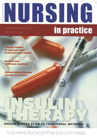 NURSING IN PRACTICE JULY/AUG 2007<br /> Front Cover